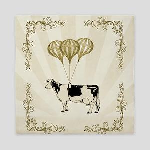 Vintage Balloon Cow Queen Duvet