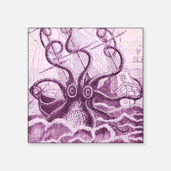 "Purple Kraken Square Sticker 3"" x 3"""