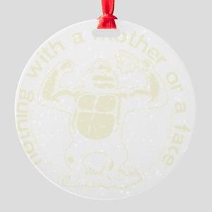 Brand shoulder logo Round Ornament