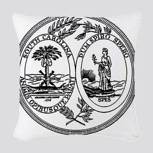 South Carolina State Seal Woven Throw Pillow