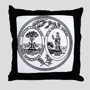 South Carolina State Seal Throw Pillow