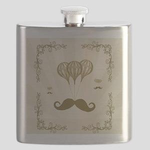Balloon Moustache Flask