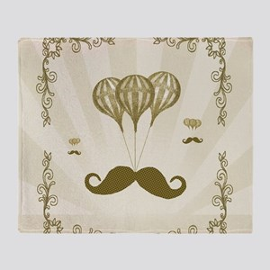 Balloon Moustache Throw Blanket