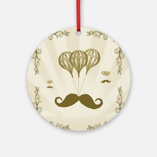 Balloon Moustache Round Ornament