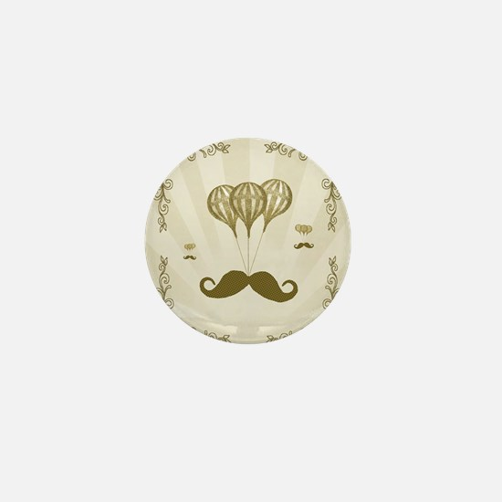 Balloon Moustache Mini Button