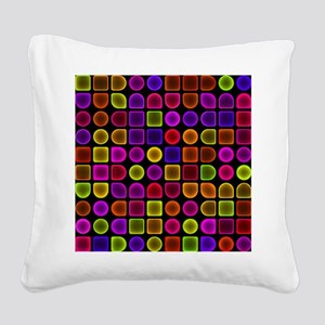 Neon Shower Curtain Square Canvas Pillow