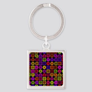 Neon Shower Curtain Square Keychain
