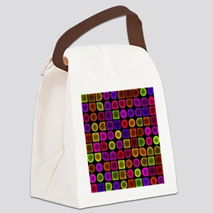 Neon Shower Curtain Canvas Lunch Bag