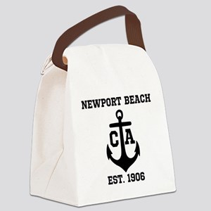 Newport Beach anchor design Canvas Lunch Bag
