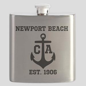 Newport Beach anchor design Flask