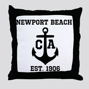Newport Beach anchor design Throw Pillow