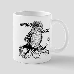 Whooo Cares Owl Mug