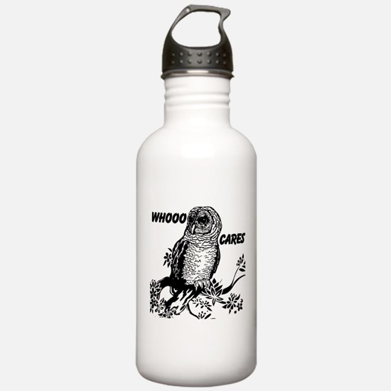 Whooo Cares Owl Water Bottle