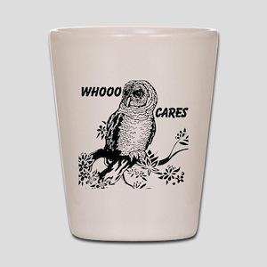 Whooo Cares Owl Shot Glass