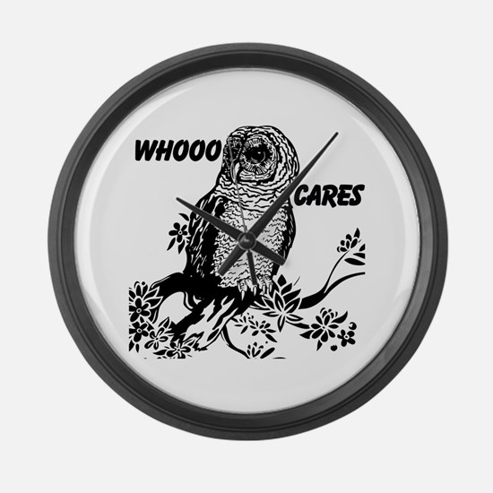 Whooo Cares Owl Large Wall Clock