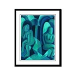 Reflections in Blue I Abstract Framed Panel Print