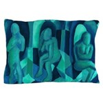Reflections in Blue I Abstract Angels Pillow Case
