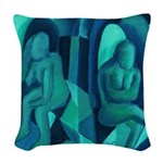 Reflections in Blue I Abstract Angels Woven Throw