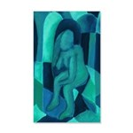 Reflections in Blue I Abstract 20x12 Wall Decal