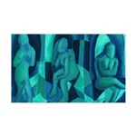 Reflections in Blue I Abstract 35x21 Wall Decal