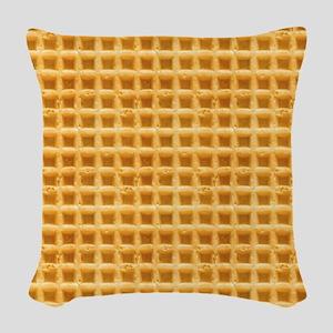 Yummy Giant Waffle Woven Throw Pillow