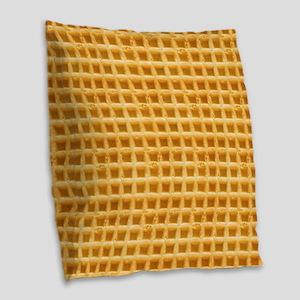 Yummy Giant Waffle Burlap Throw Pillow