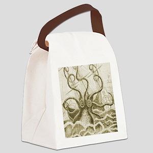 Sepia Kraken Canvas Lunch Bag