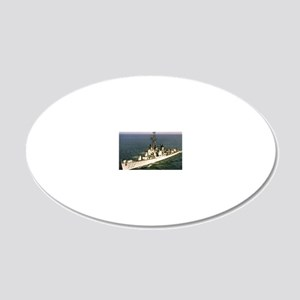 uss samuel n. moore rectangl 20x12 Oval Wall Decal