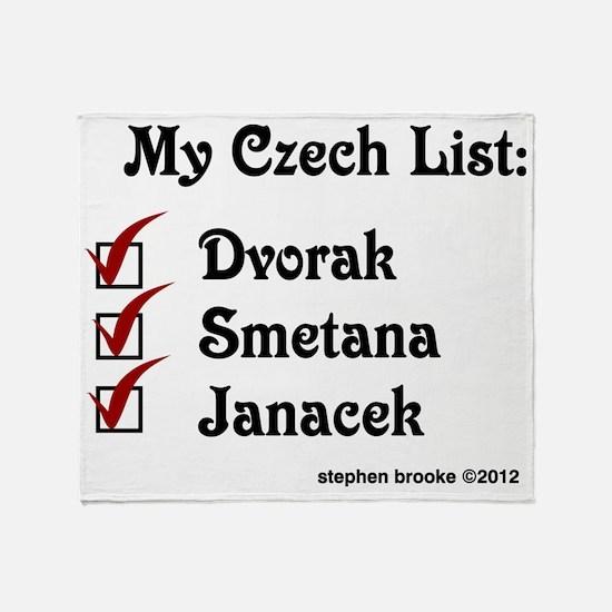 Czech List Throw Blanket