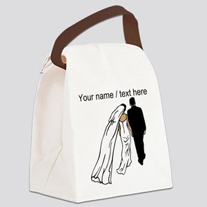 Custom Bride And Groom Canvas Lunch Bag