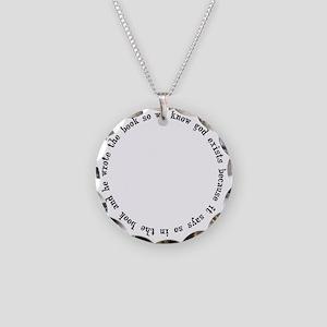 god exists circular argument Necklace Circle Charm
