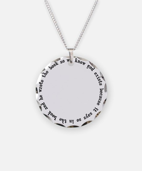 god exists circular argument Necklace