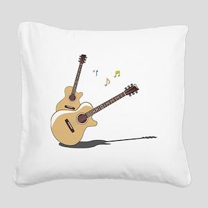00055_Guitar Square Canvas Pillow