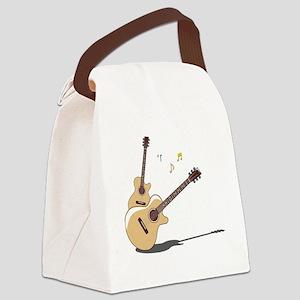 00055_Guitar Canvas Lunch Bag