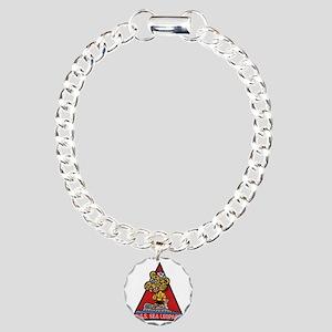 uss sea leopard patch tr Charm Bracelet, One Charm