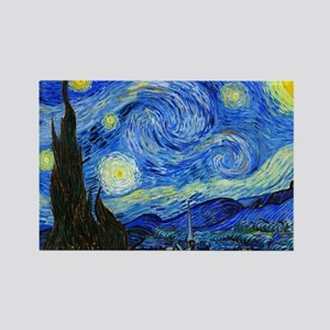 Van Gogh Rectangle Magnet