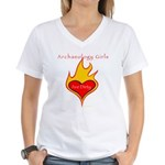 Archaeology Girls Are Dirty!  Women's V-Neck T-Shi