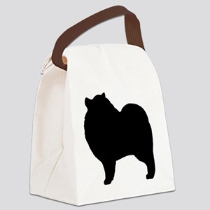 keeshondsilhouette Canvas Lunch Bag