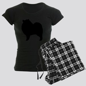keeshondsilhouette Women's Dark Pajamas