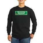 Recovering Gasoholic Long Sleeve Dark T-Shirt