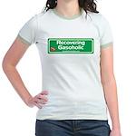 Recovering Gasoholic Jr. Ringer T-Shirt