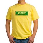 Recovering Gasoholic Yellow T-Shirt