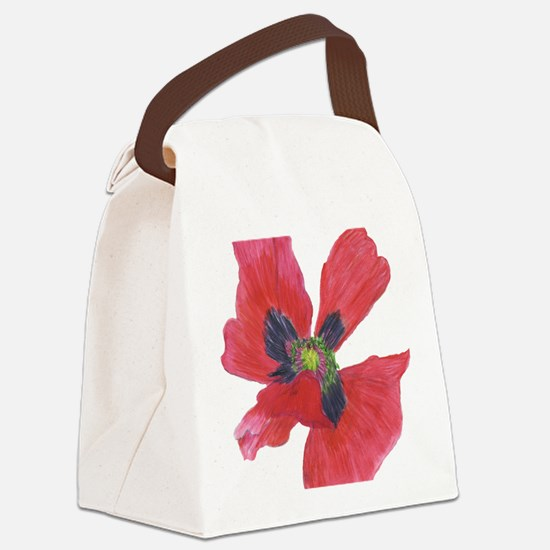 Red Poppy 2 Canvas Lunch Bag