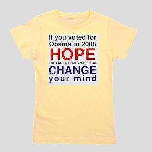 Hope and Change presidents Girl's Tee
