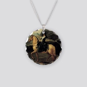 Francisco Goya Portrait Of M Necklace Circle Charm