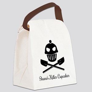 Cupcakes Skull and Crossed Spatul Canvas Lunch Bag