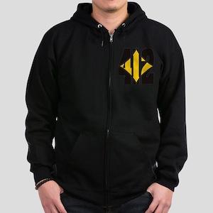 412 Black/Gold-W Zip Hoodie (dark)