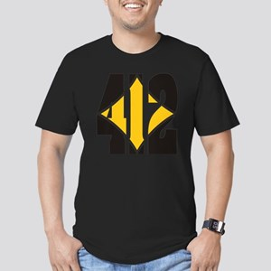 412 Black/Gold-W Men's Fitted T-Shirt (dark)