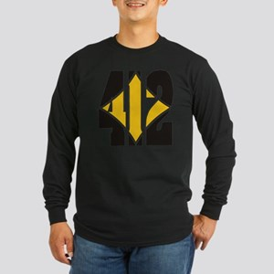 412 Black/Gold-W Long Sleeve Dark T-Shirt