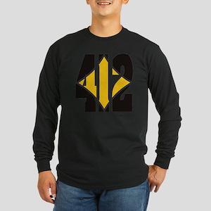 412 Black/Gold-W Long Sleeve Dark T-Shirt